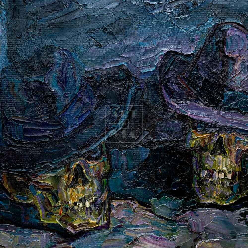 Фрагмент картины 3/3. Ванитас. Джентльмены