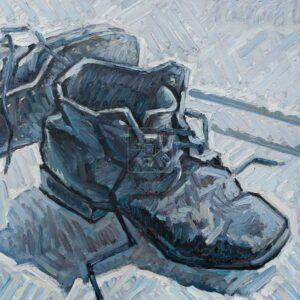 Фрагмент картины 1/3. Натюрморт с советскими ботинками