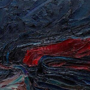 Фрагмент картины 2/3. Натюрморт с калошами и зонтом