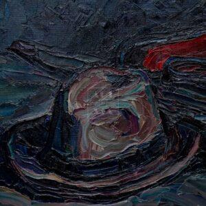 Фрагмент картины 3/3. Натюрморт с калошами и зонтом