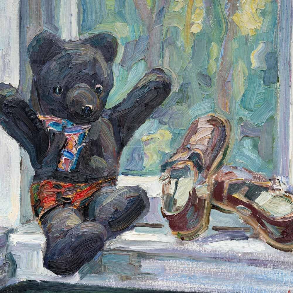 Фрагмент картины 1/3. Натюрморт. На даче И. И. Витман