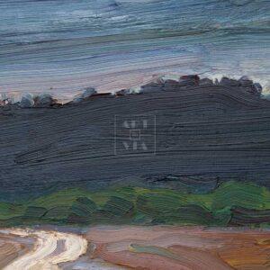 Фрагмент картины 2/3. Пейзаж. Дорога к лесу