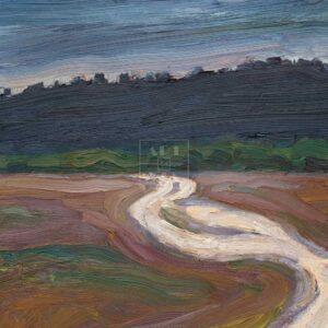 Фрагмент картины 3/3. Пейзаж. Дорога к лесу