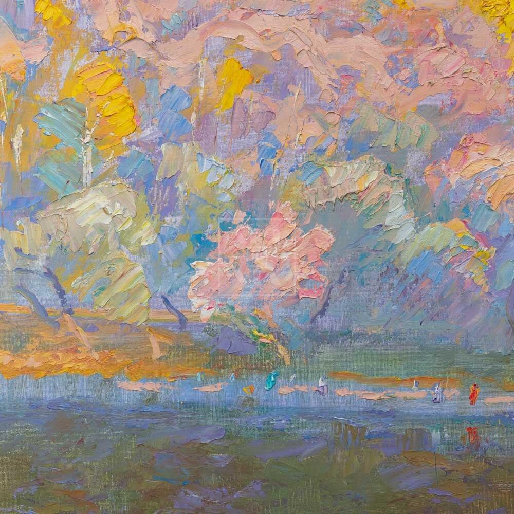 Фрагмент картины 3/3. Москва. Пейзаж. Нескучный сад в ноябре