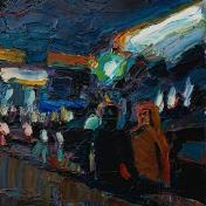 Фрагмент картины 1/3. Пейзаж. № 15. У выхода из метро