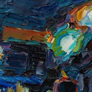 Фрагмент картины 2/3. Пейзаж. № 15. У выхода из метро