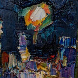 Фрагмент картины 2/3. Пейзаж. Около Макдональдса