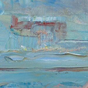 Фрагмент картины 2/3. Москва. Пейзаж. Нескучный сад в феврале