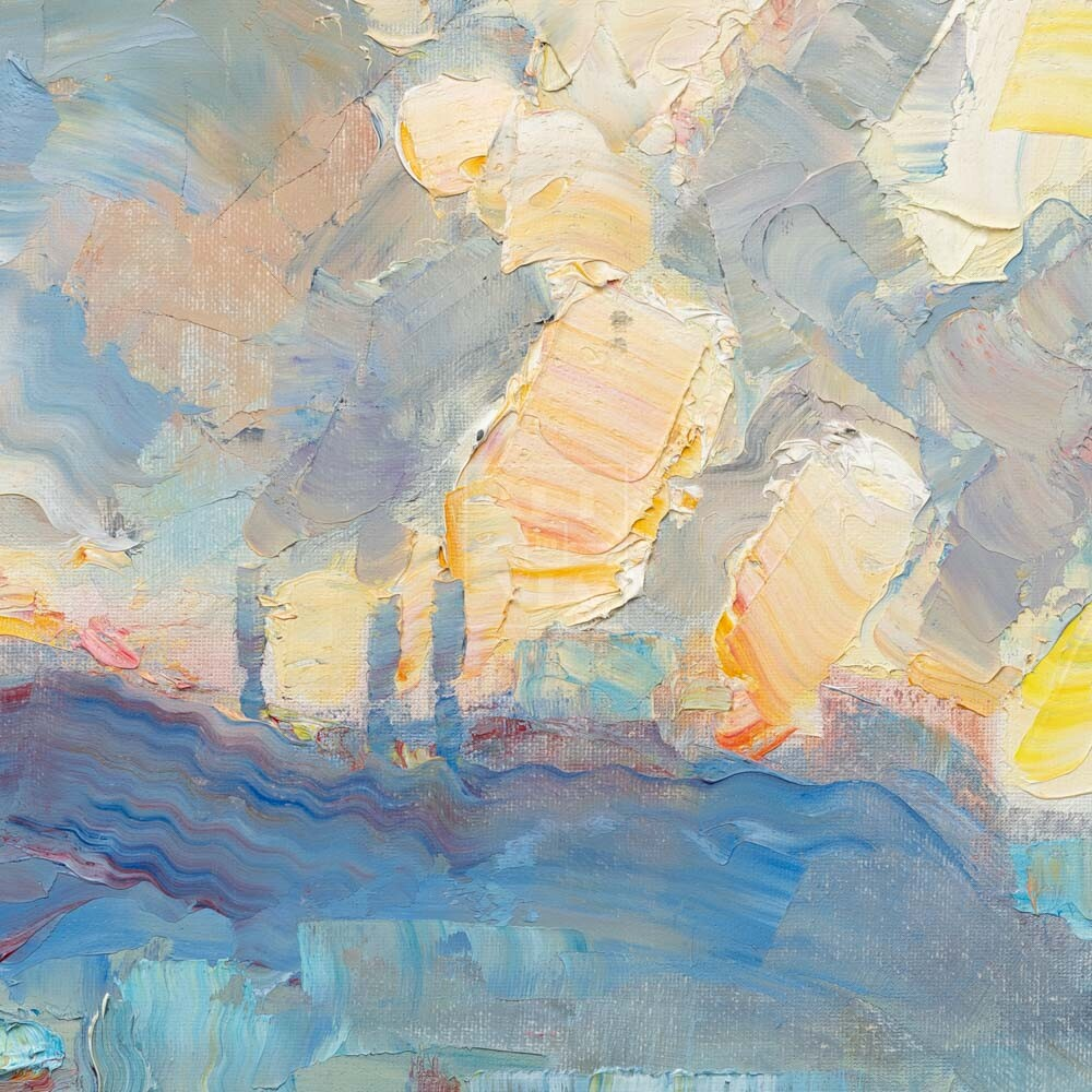 Фрагмент картины 3/3. Москва. Пейзаж. Нескучный сад в феврале