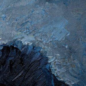 Фрагмент картины 2/3. Натюрморт. Шапка. Модель 500-20