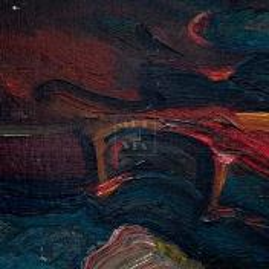Фрагмент картины 2/3. Натюрморт. Туфли и старая скрипка