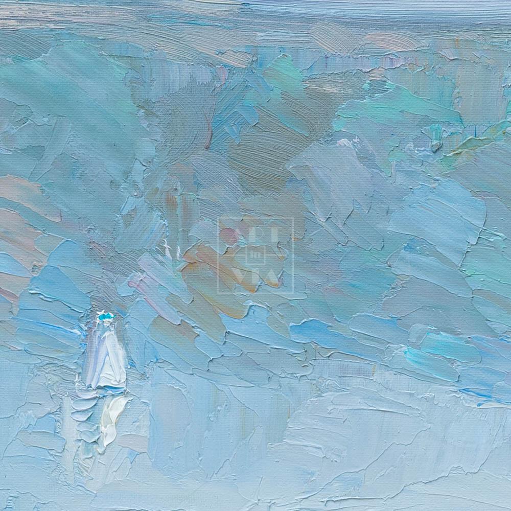 Фрагмент картины 2/3. Москва. Пейзаж. Март