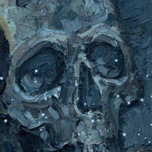 Фрагмент картины 2/3. Ванитас. Череп и луна