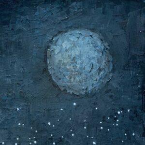 Фрагмент картины 3/3. Ванитас. Череп и луна