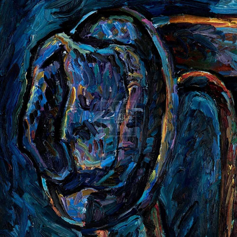Фрагмент картины 3/3. Натюрморт со стулом и шляпой