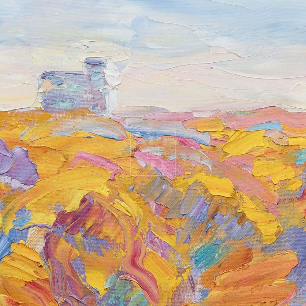 Фрагмент картины 2/3. Москва. Пейзаж. Нескучный сад в октябре