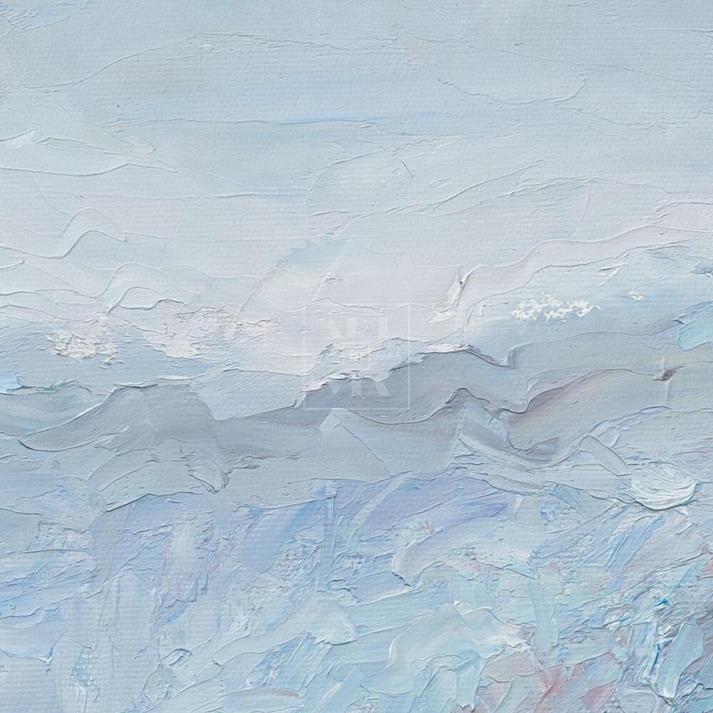 Фрагмент картины 2/3. Москва. Декабрьский пейзаж