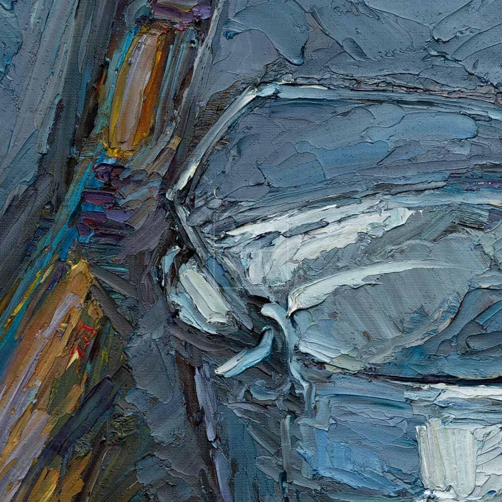 Фрагмент картины 2/3. Натюрморт. Совок 32 года спустя
