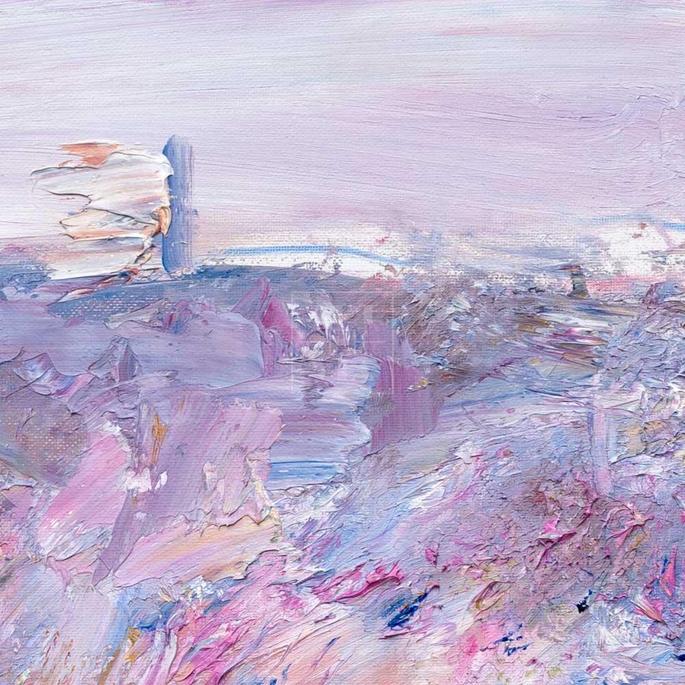 Фрагмент картины 2/3. Москва. Пейзаж. Нескучный сад в апреле