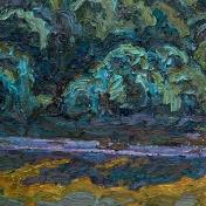 Фрагмент картины 3/3. Москва. Пейзаж. Нескучный сад в августе