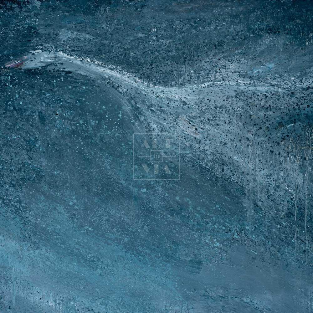 Фрагмент картины 1/3. Гусь перелетающий Гималаи