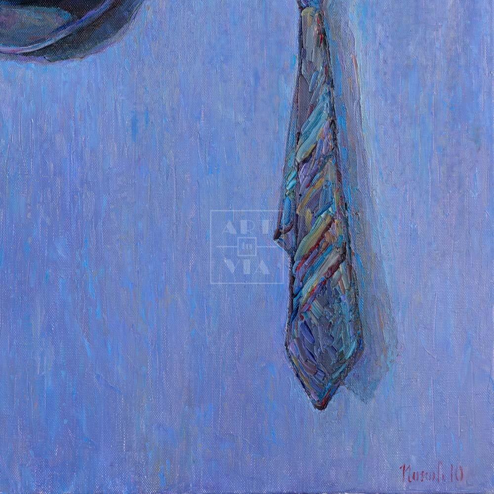Фрагмент картины 1/3. Натюрморт с галстуком