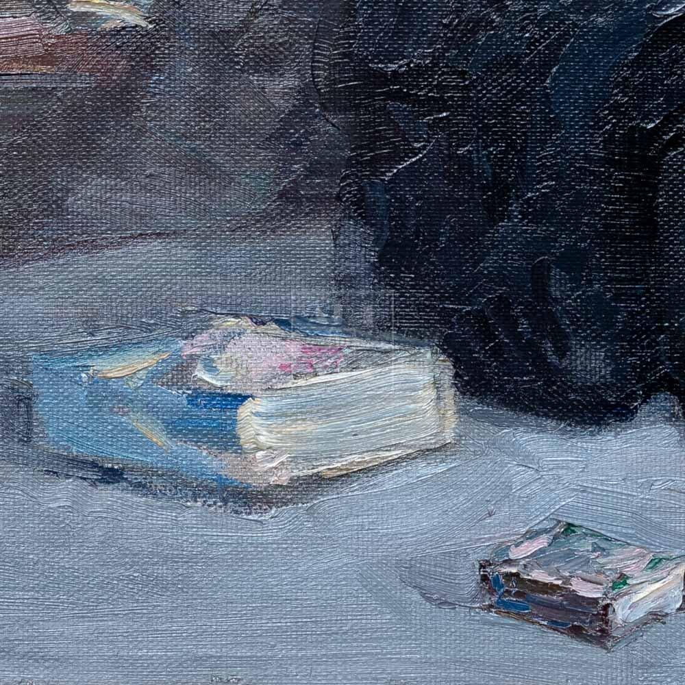 Фрагмент картины 2/3. Натюрморт. Привет из Москвы