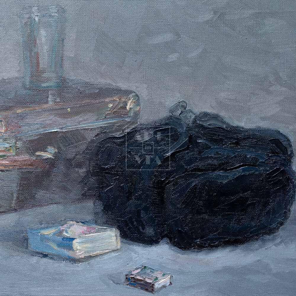 Фрагмент картины 3/3. Натюрморт. Привет из Москвы