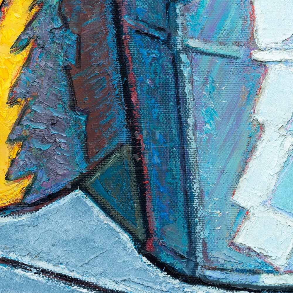 Фрагмент картины 2/3. Натюрморт. Совок 30 лет спустя