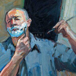 Фрагмент картины 1/3. Автопортрет. 5 сентября 2006