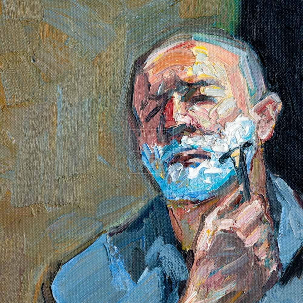 Фрагмент картины 3/3. Автопортрет. 5 сентября 2006