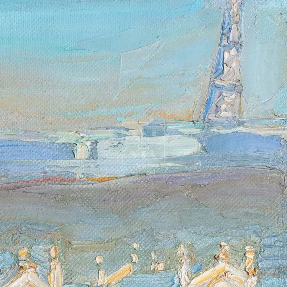 Фрагмент картины 2/3. Натюрморт с красным патефоном