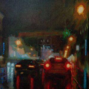 Фрагмент картины 1/3. Пейзаж. № 20. Улица Тверская в 0 часов 30 минут