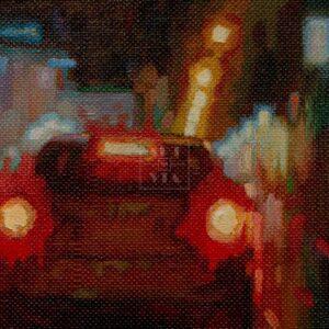 Фрагмент картины 2/3. Пейзаж. № 20. Улица Тверская в 0 часов 30 минут