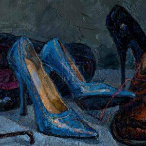 Фрагмент картины 3/3. Натюрморт с обувью