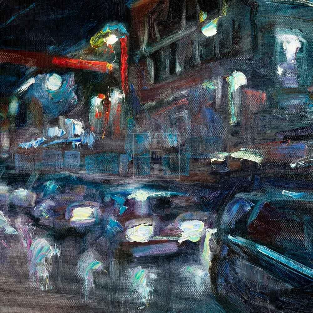 Фрагмент картины 1/3. Пейзаж. № 21. Тверская улица в час пик