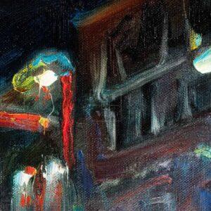 Фрагмент картины 2/3. Пейзаж. № 21. Тверская улица в час пик