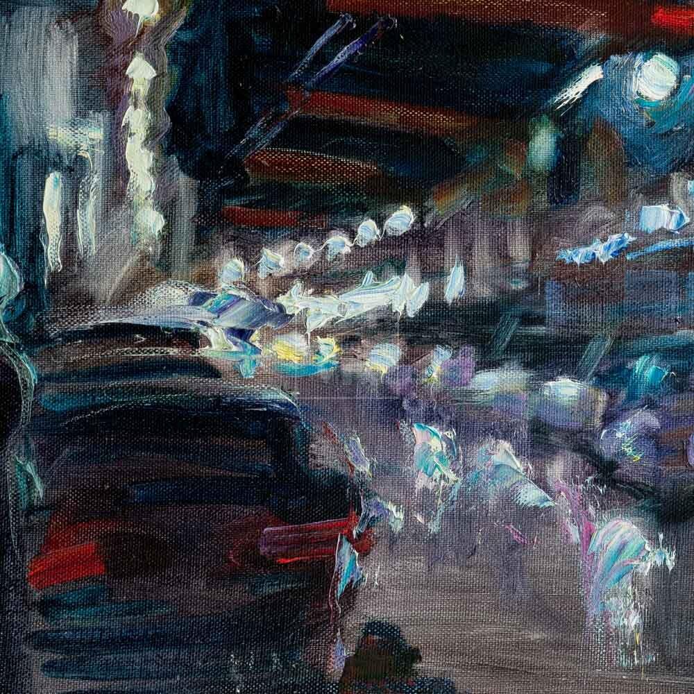 Фрагмент картины 3/3. Пейзаж. № 21. Тверская улица в час пик