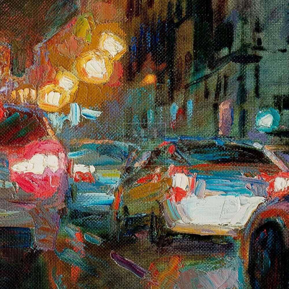Фрагмент картины 2/3. Пейзаж. Москва. Театральная площадь