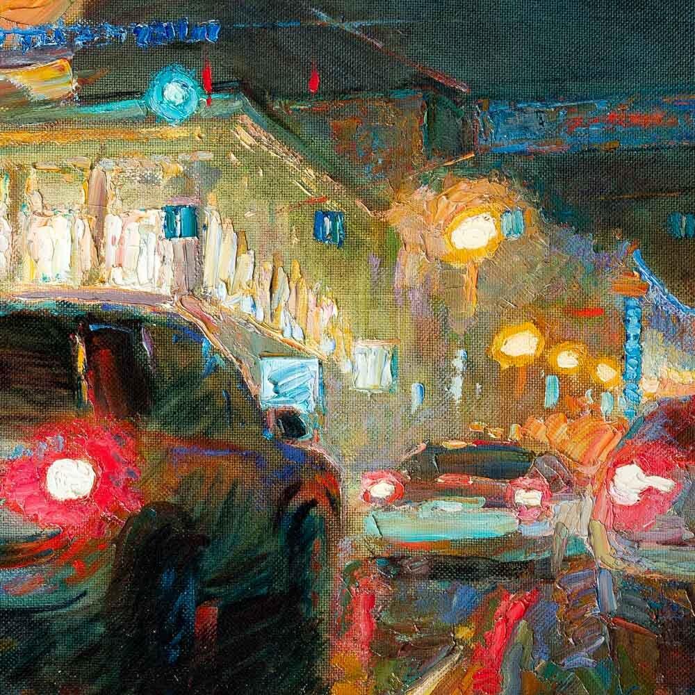 Фрагмент картины 3/3. Пейзаж. Москва. Театральная площадь