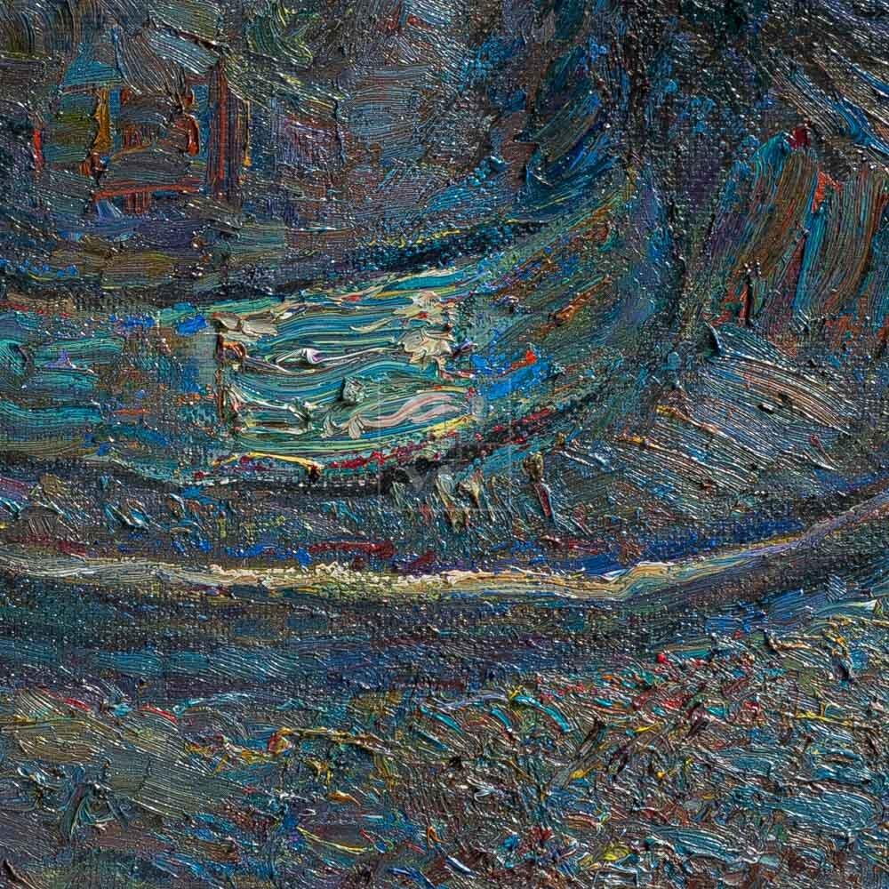 Фрагмент картины 2/3. Натюрморт с туфлями и шляпой