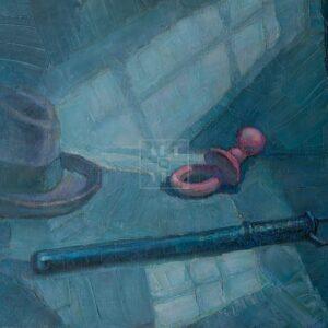 Фрагмент картины 1/3. Натюрморт. Кнут и пряник