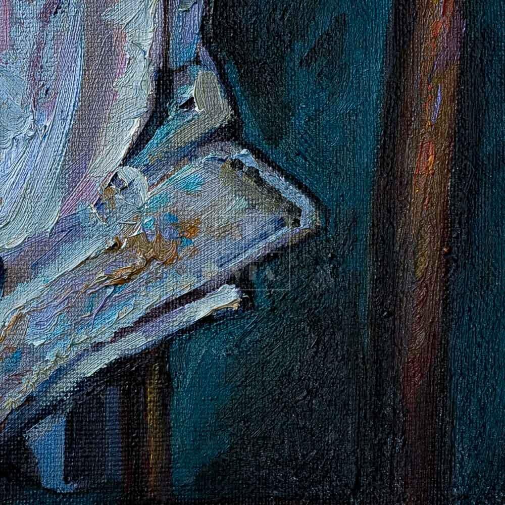Фрагмент картины 2/3. Натюрморт со стулом и сапогами