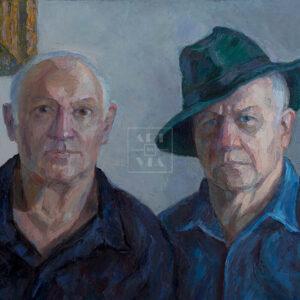 Фрагмент картины 1/3. Портрет. Друзья