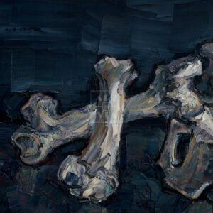 Фрагмент картины 1/3. Натюрморт с черепом коня