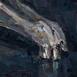 Фрагмент картины 2/3. Натюрморт с черепом коня