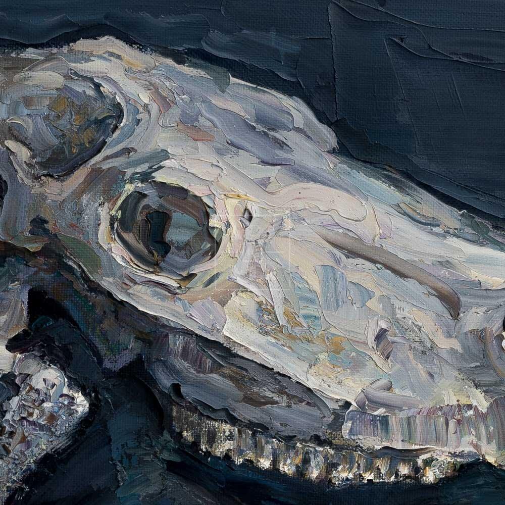 Фрагмент картины 3/3. Натюрморт с черепом коня