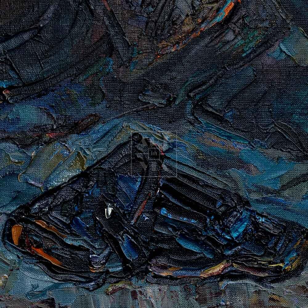 """Фрагмент картины 2/3. Натюрморт. Шлемы танковой группы """"Африка"""""""