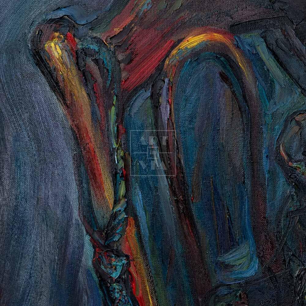 Фрагмент картины 2/3. Натюрморт со стулом