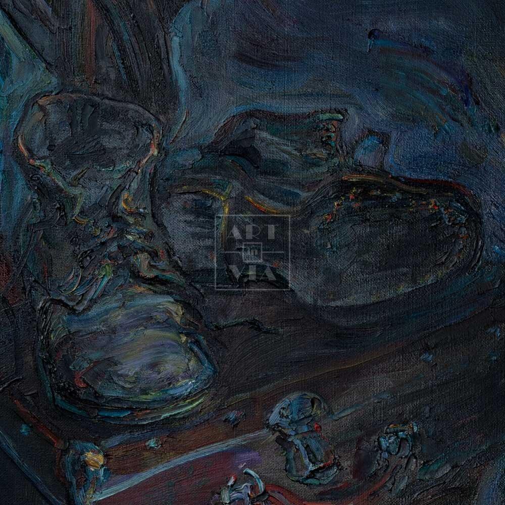 Фрагмент картины 3/3. Натюрморт со стулом